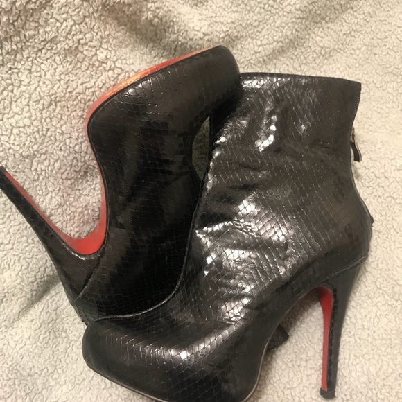 sports shoes 40ed2 f601d Christian Louboutin Ankle Boots Leather Snakeskin